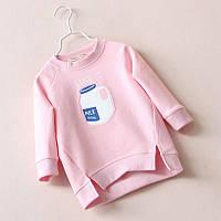 Свитшот, кофточка для девочки Кофта, 116-122, Весна/осень, розовый