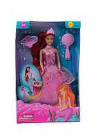 Кукла для девочки defa lucy Русалочка 8188 с аксессурами в коробке 18*33см