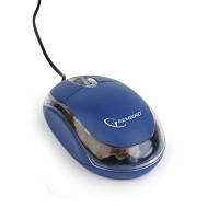 Оптическая мышь gembird mus-u-01-bt usb с подсветкой синяя