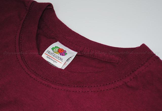 бордовая мужская классическая футболка