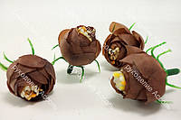 Головы ранункулюса шоколадные диаметр около 2.3см
