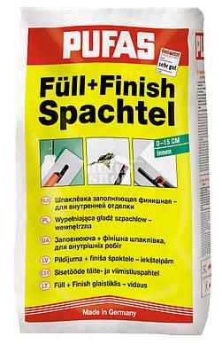 Шпаклевка заполняющая финишная для внутренней отделки PUFAS FULL FINISH 0-15см 25кг
