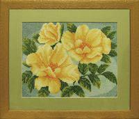 """Набор для вышивания крестом ТМ """"Леді""""  Желтые розы 1030"""