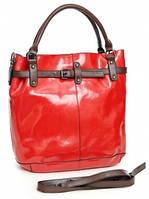 Кожаная женская сумка 51029 Red