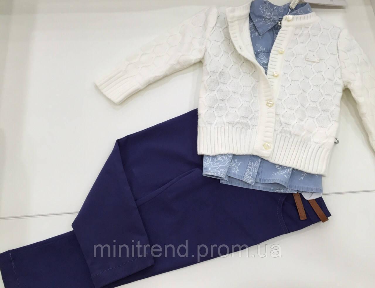 Детский костюм - кофта , рубашка , брюки  - для девочки на 2 - 3 года - Интернет-магазин детской одежды MiniTrend в Одессе