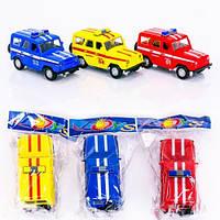 Машина 6622-2 А/ 6622-2 С/ 6622-2 D/ 6622-2 F (192/2) 3 цвета, инерция, 1шт в кульке