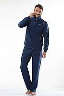 Трикотажный мужской синий спортивный костюм пр-во Турция FM14668-3