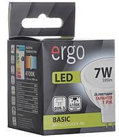 Светодиодная лампа ERGO, 7W, 4100K, нейтрального свечения, MR16, цоколь - GU5.3, 1 год гарантии!