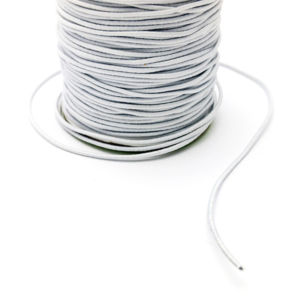 Резинка круглая, 1 мм, белая, 1 м