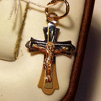 Золотая подвеска Крест