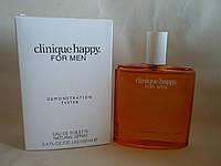 Clinique Happy For Men  тестер, клиник мужской парфюм. парфюм клиник хэппи мужской.