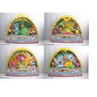 Коврик для малышей с погремушками на дуге, 518-02346