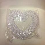 Декорация, Сердце вязанное крючком, 15х15 см, Подарки к дню святого Валентина, фото 2