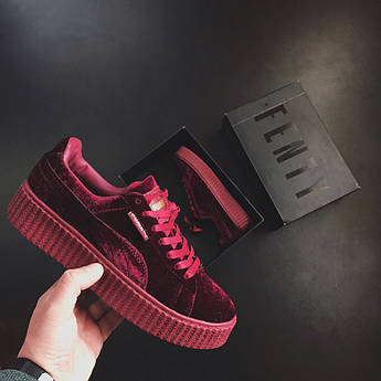 Женские кроссовки Puma Rihanna Red Wine Velvet