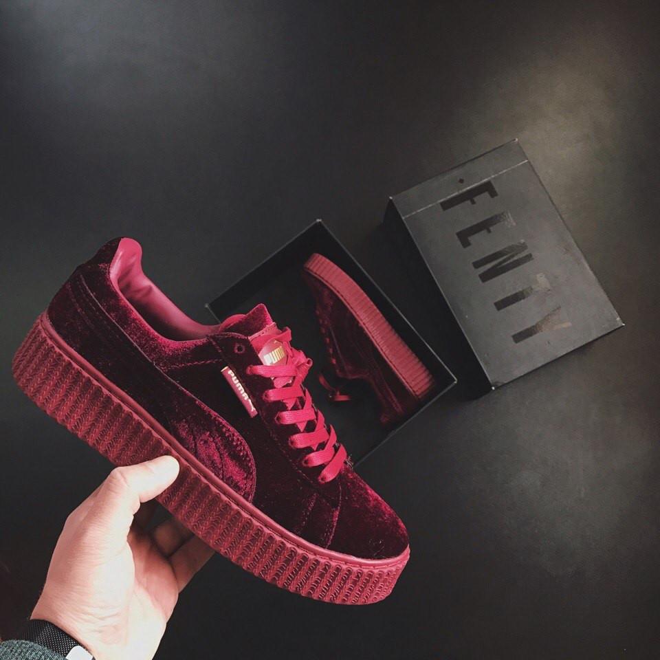 632f97c8dcae Женские кроссовки Puma Rihanna Red Wine Velvet - Магазин Nike-Shop.  Брендовая спортивная одежда