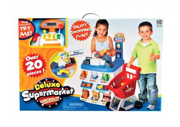 """Игровой набор """"Магазин"""" 31621, """"Супермаркет"""", касса, прилавок, тележка, продукты, свет, звук, на батарейках, фото 2"""