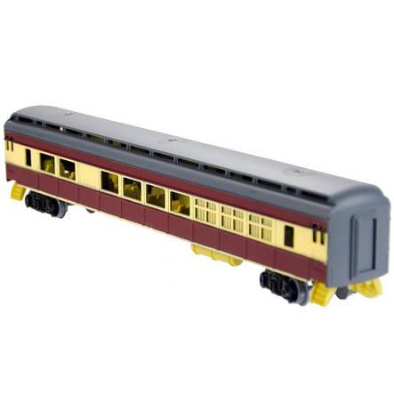 Железная дорога «Fenfa» (1601B-5B) паровоз с вагоном, фото 2