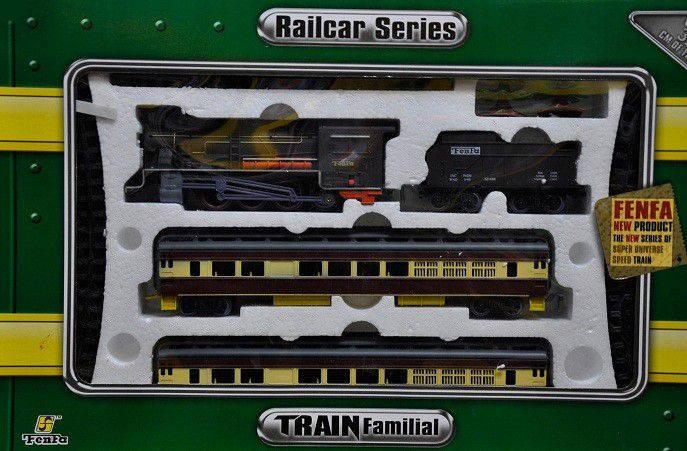 Железная дорога «Fenfa» (1601A-4B) паровоз с вагонами, фото 2