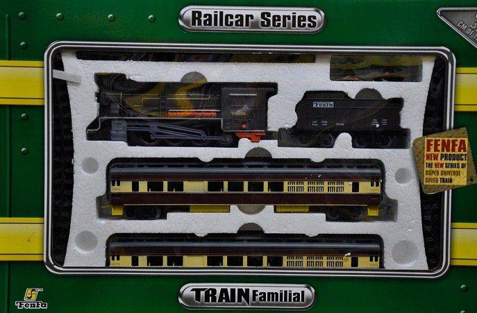 Железная дорога «Fenfa» (1601A-4B) паровоз с вагонами