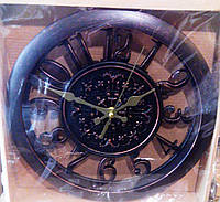 "Часы настенные ""Старый замок2"", черные, 35,5*5,5 см."