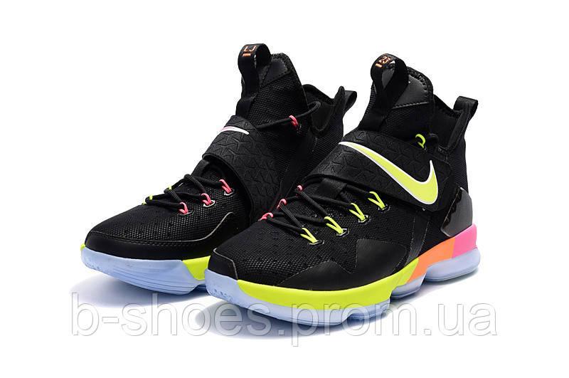 Детские баскетбольные кроссовки Nike LeBron 14 (Black Rainbow)