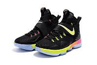 Детские баскетбольные кроссовки Nike LeBron 14 (Black Rainbow), фото 1