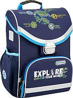 Рюкзак школьный каркасный Kite 529 discovery для мальчиков DC16-529S