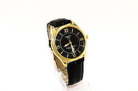 Мужские часы  TISSOT, черные в золотом корпусе(копия)