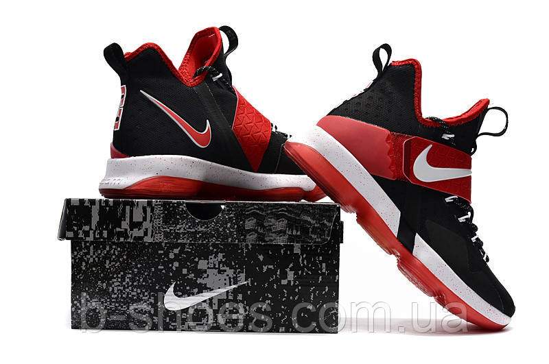 Детские баскетбольные кроссовки Nike LeBron 14 (Black Red-White), ... 08c4447cc7b