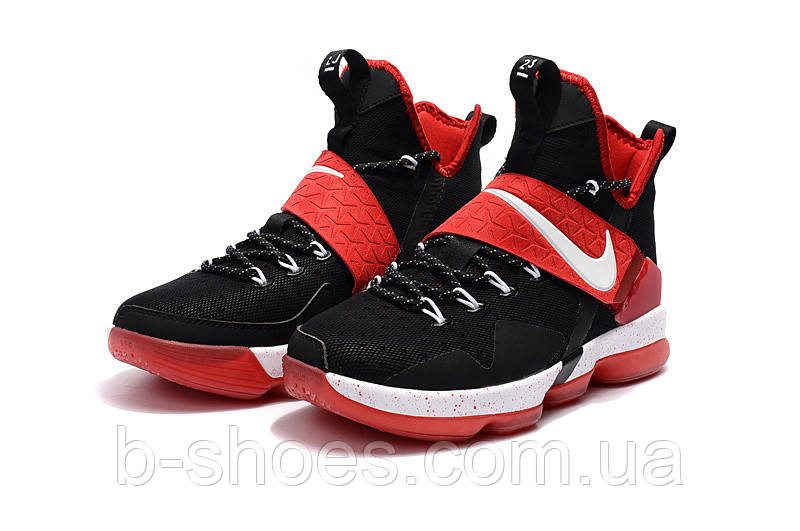 Детские баскетбольные кроссовки Nike LeBron 14 (Black/Red-White)