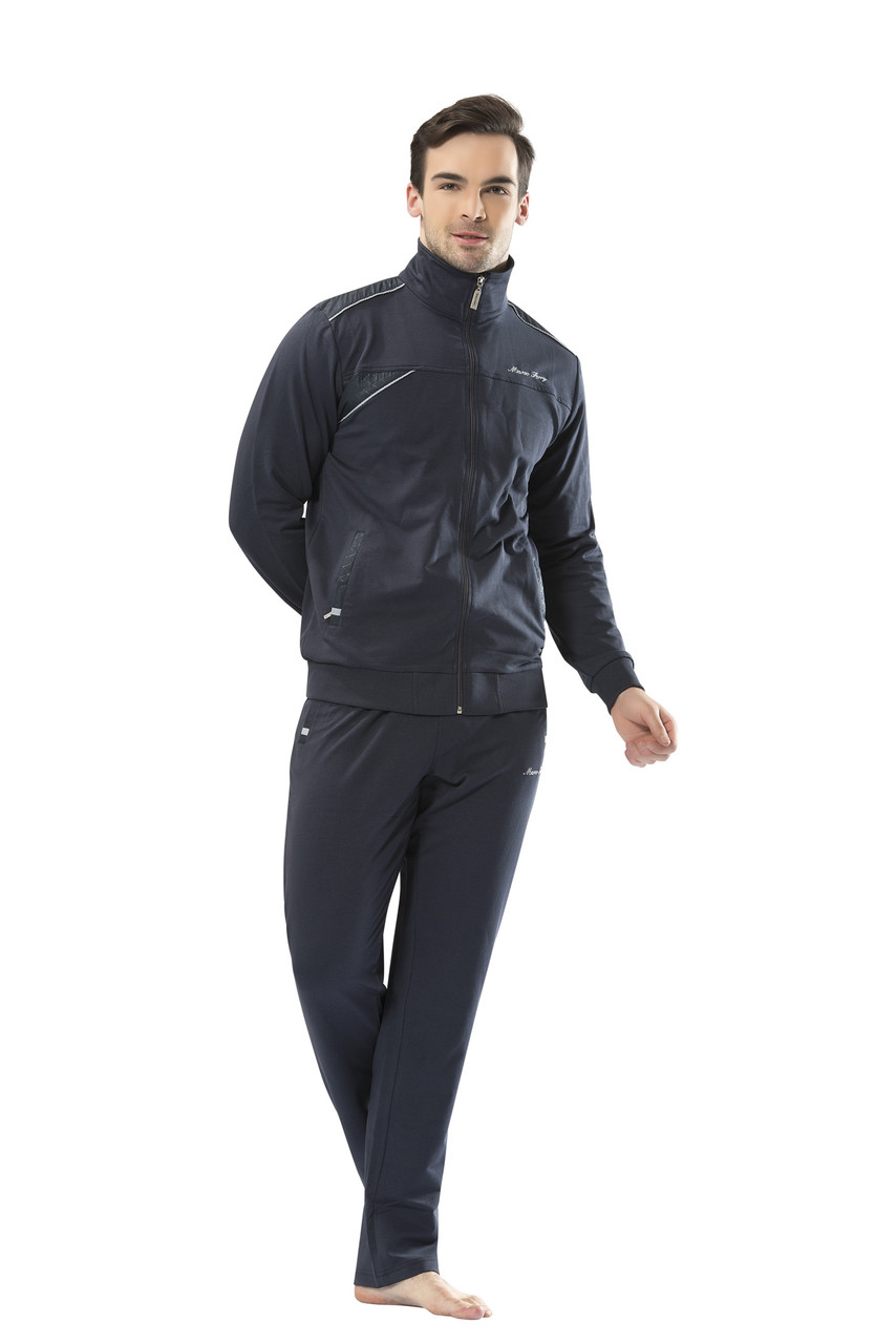 Трикотажный мужской антрацит спортивный костюм пр-во Турция FM17331-3