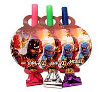 """Язычок - гудок карнавальный """"Лего Ниндзяго"""", 6 шт/уп."""