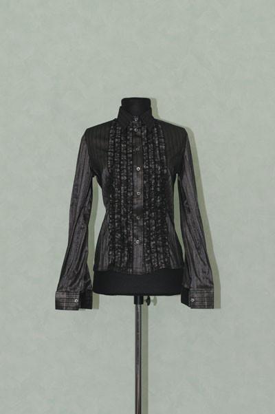 Блузка женская в полоску темная Р32