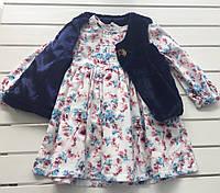Детское платье и жилетка для девочки на 2 -  4 года
