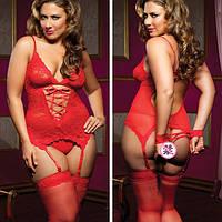 Эротический комплект красный 44-46