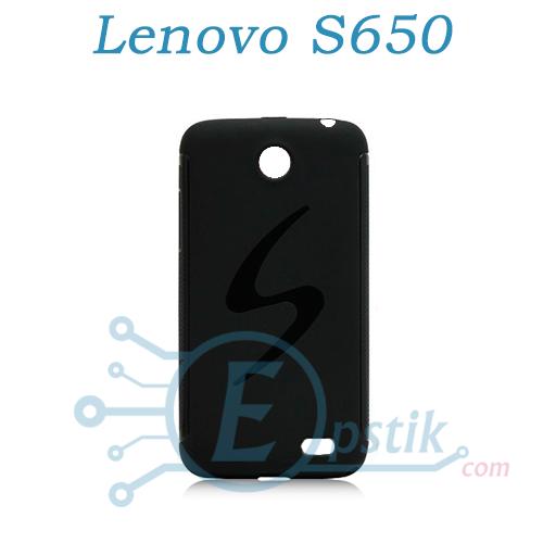 Чехол силиконовый для Lenovo S650 Черный