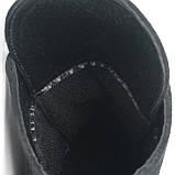 Hermess Стильные черные Гермесc болты! ботинки женские зимние сапоги  кожа черные, фото 9