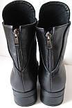 Hermess Стильные черные Гермесc болты! ботинки женские зимние сапоги  кожа черные, фото 4