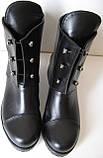 Hermess Стильные черные Гермесc болты! ботинки женские зимние сапоги  кожа черные, фото 5