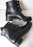 Hermess Стильные черные Гермесc болты! ботинки женские зимние сапоги  кожа черные, фото 6