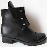 Hermess Стильные черные Гермесc болты! ботинки женские зимние сапоги  кожа черные, фото 3