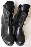 Hermess Стильные черные Гермесc болты! ботинки женские зимние сапоги  кожа черные, фото 7