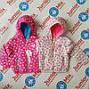 Детская весенняя куртка на девочку в сердечки NIEBESKI KSIEZYC
