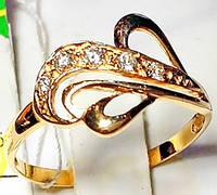 Кольцо из золота 585 пробы с фианитами