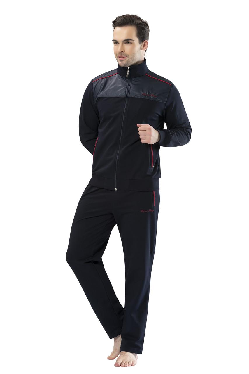 Темно-синий спортивный костюм пр-во Турция оптом на 7 км FM15962-2