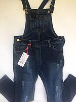 Комбинезон  джинсовый для девочки 8-12 лет