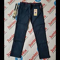 Котоновые подростковые брюки на мальчика синего цвета GRACE, фото 1