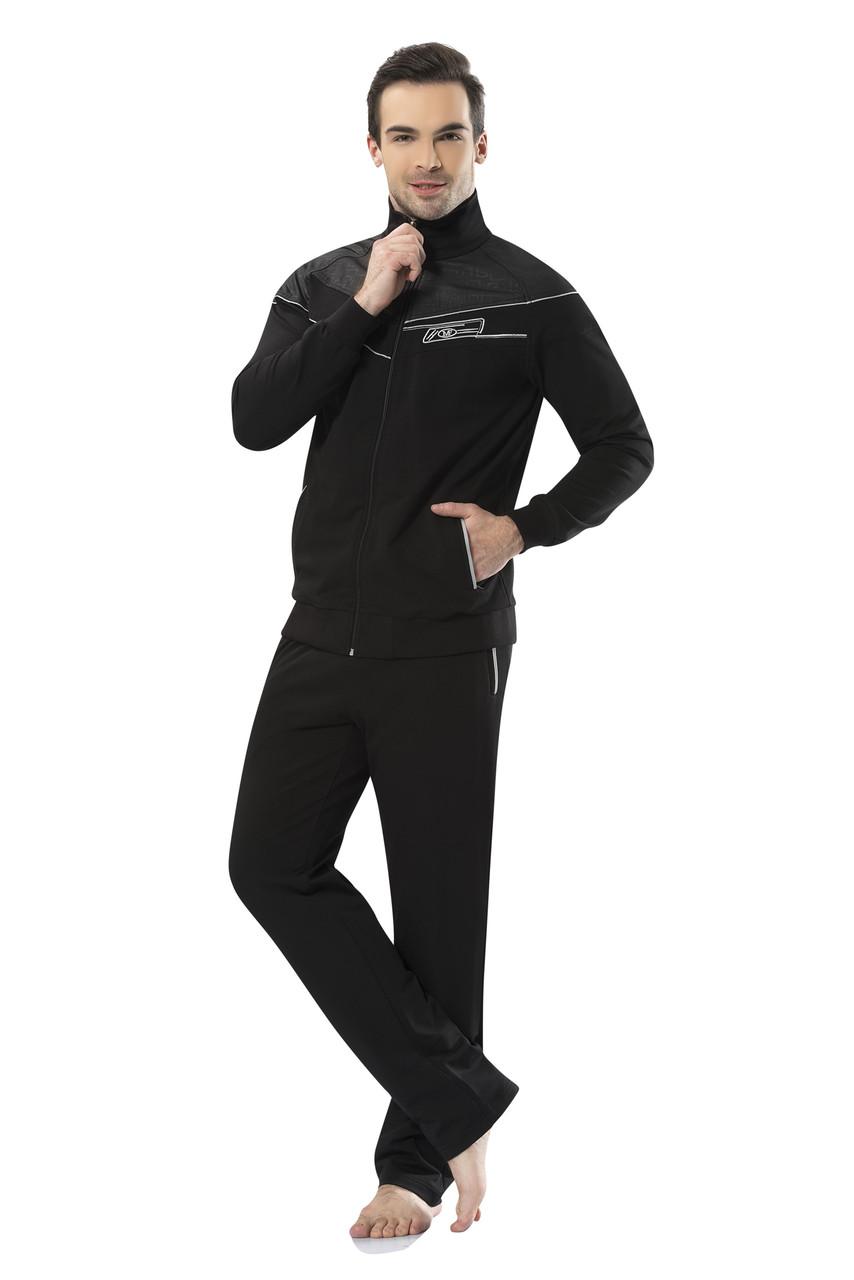Спортивный костюм мужской черный пр-во Турция FM16201-1