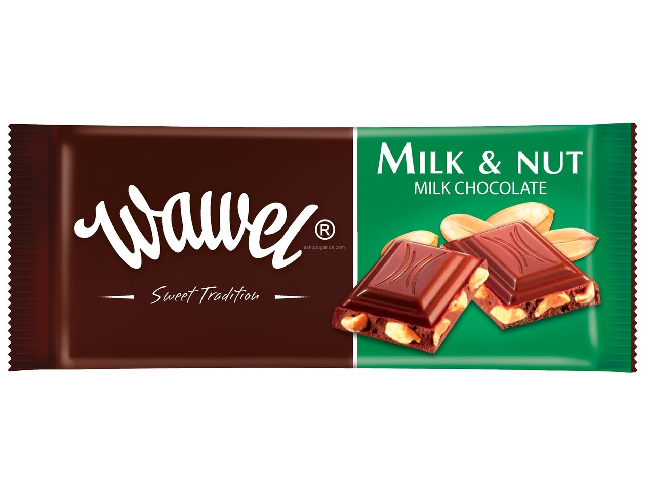 Шоколад  Wawel milk and nut Вавель молоко и нуга 100г (Польша).