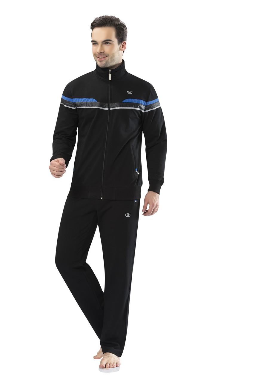 Спортивный костюм мужской черный пр-во Турция FM17407-1